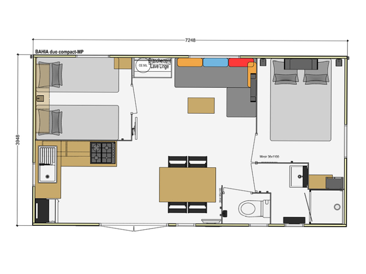 Mobil-home 4 personnes