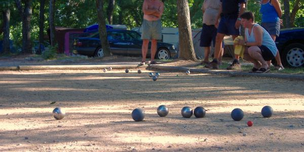French bowls (pétanque) court